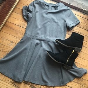 H&M gray skater dress